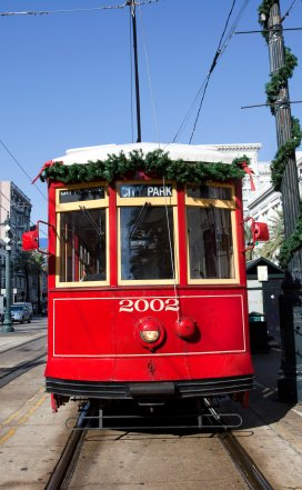 Holiday decorations in New Orleans
